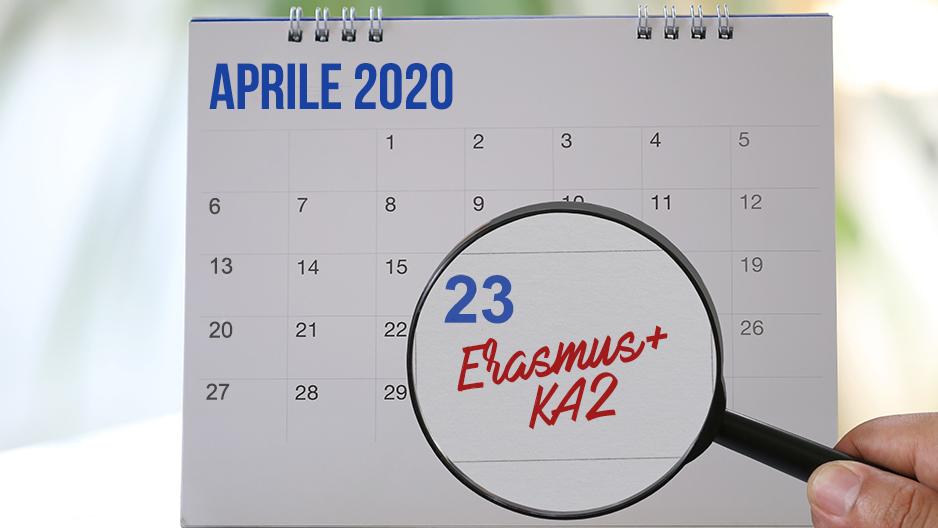 Scadenza ErasmusplusKA2 posticipata al 23aprile