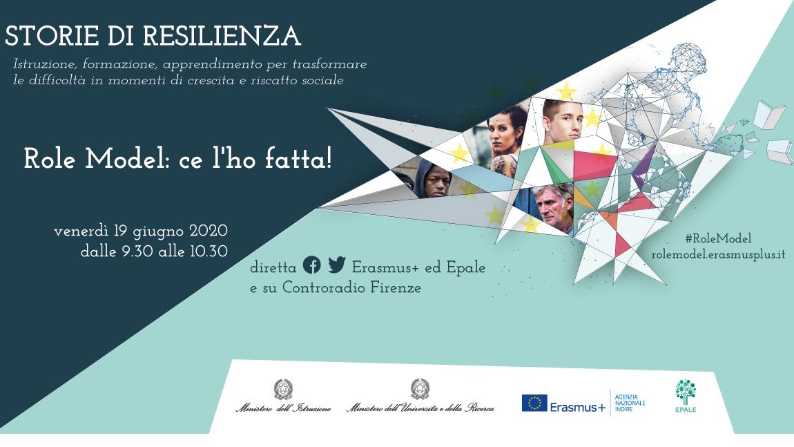 Role Model Erasmusplus Epale 2020 - Iniziativa a cura dell'Agenzia nazionale ERasmus+ Indire. Evento il 19giugno ore 9.30