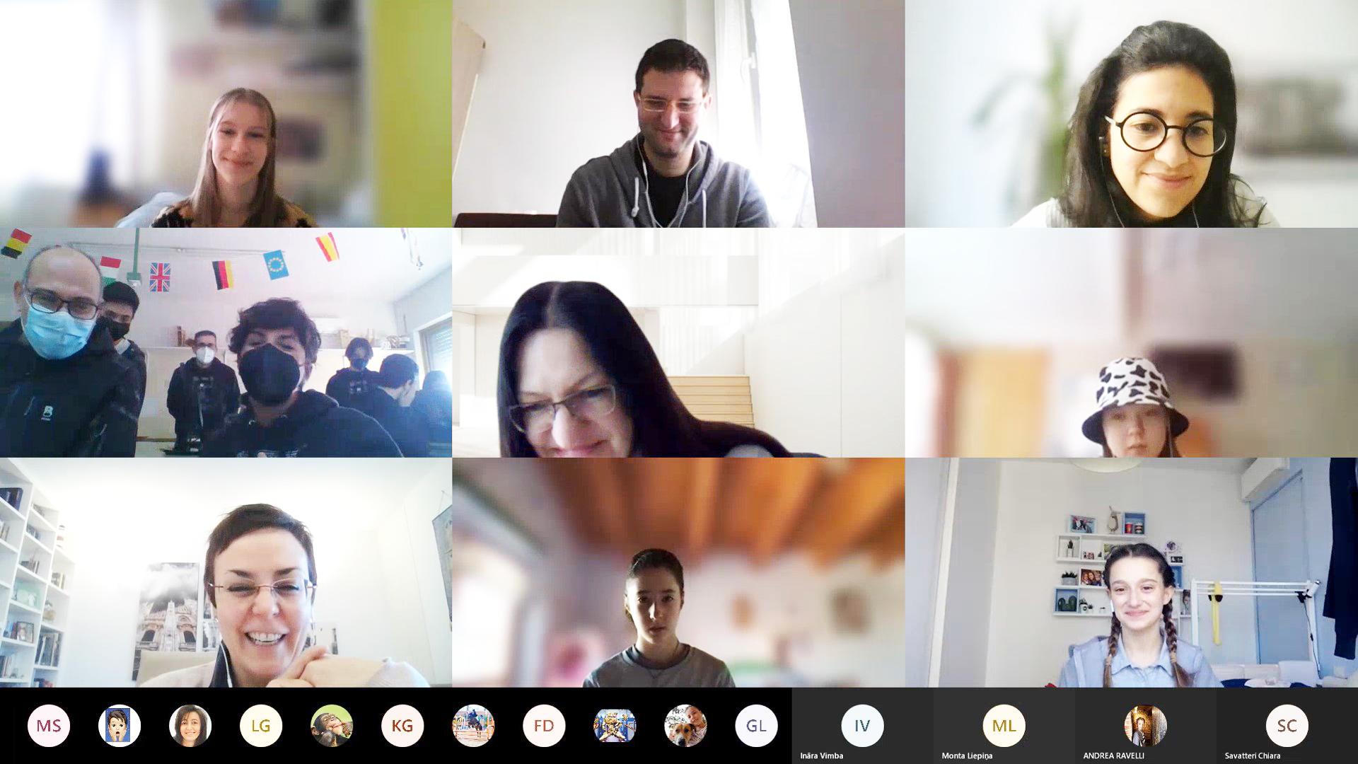 Studenti e docenti online per mobilità virtuale Erasmus+ nel progetto Leonardo beyond Leonardo