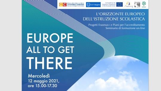 Europe All to get there. Seminario di formazione 12 maggio dalle 15 alle 17.30