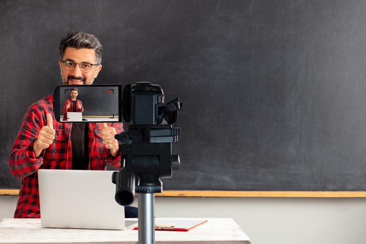 docente registra lezione online