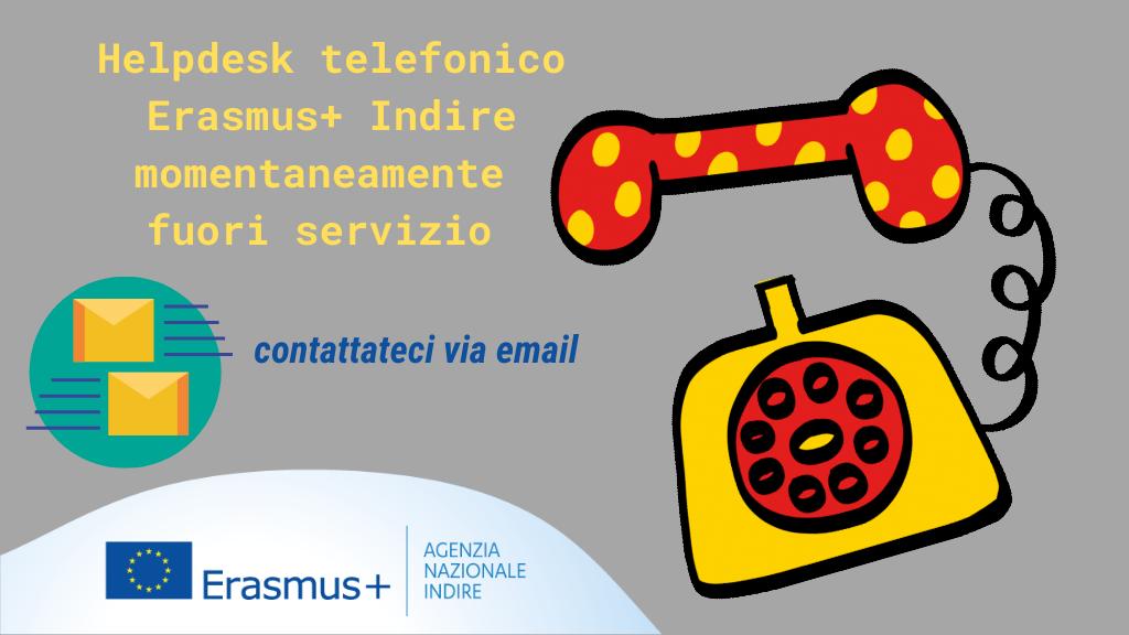 helpdesk telefonico Erasmus+ Indire